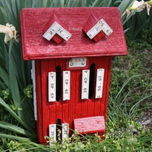 painted butterfly house for the flower garden