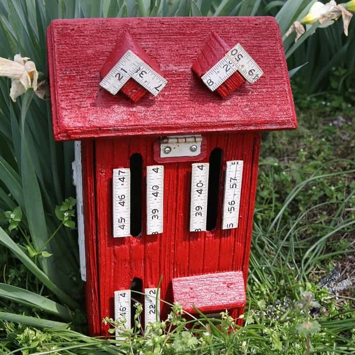 DIY painted wood butterfly house for the garden)