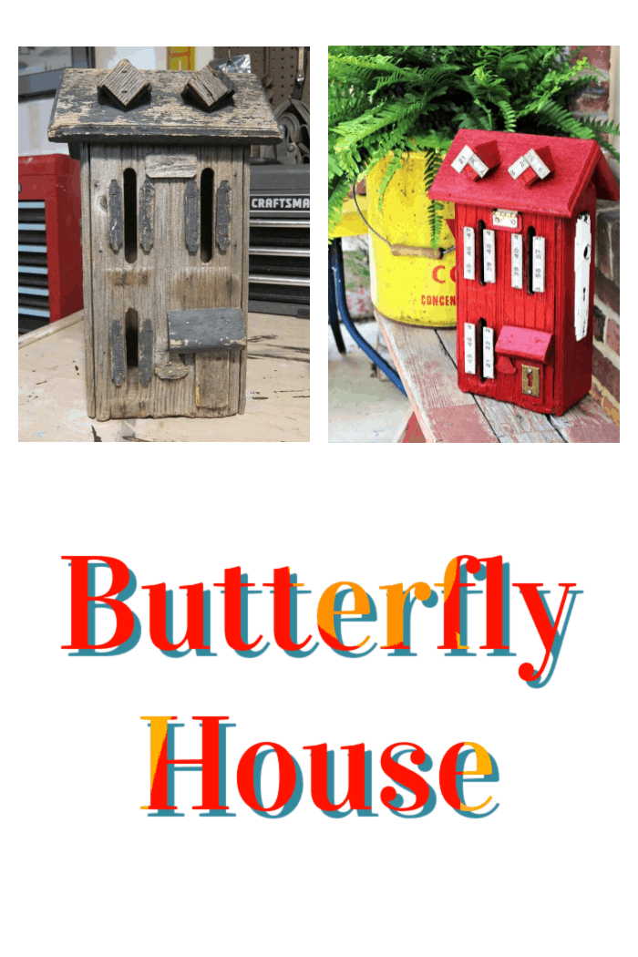 How to paint and decorate a butterfly house