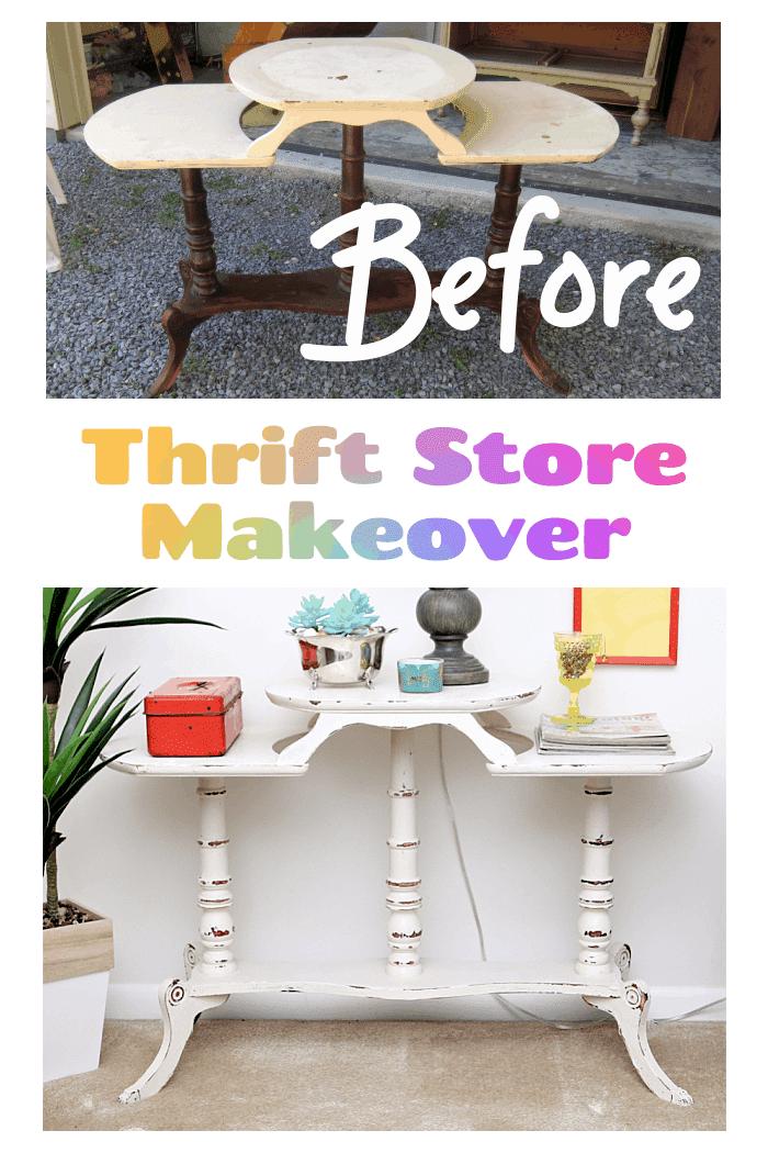 Thrift Store Furniture Makeover