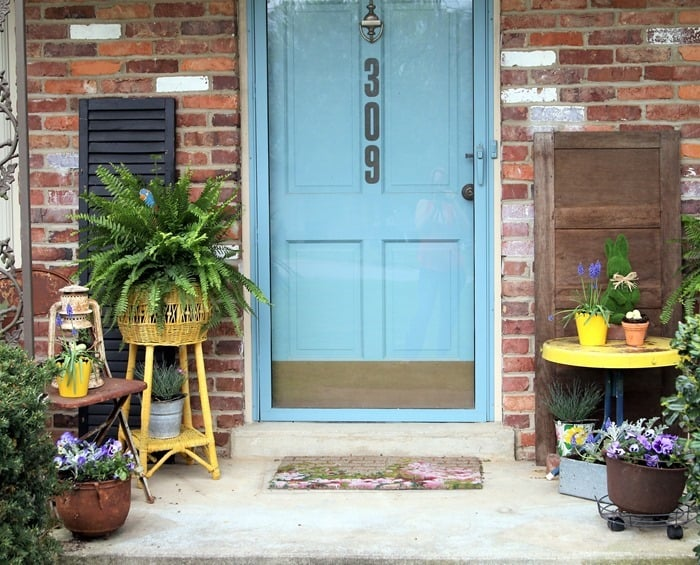 front porch decor for Spring (14)