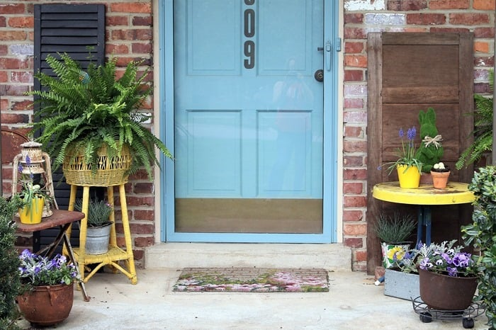 front porch decor for Spring (15)
