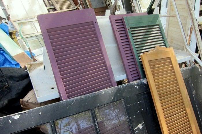 reclaimed wood shutters