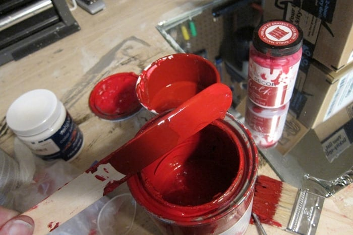 red paint color custom mix