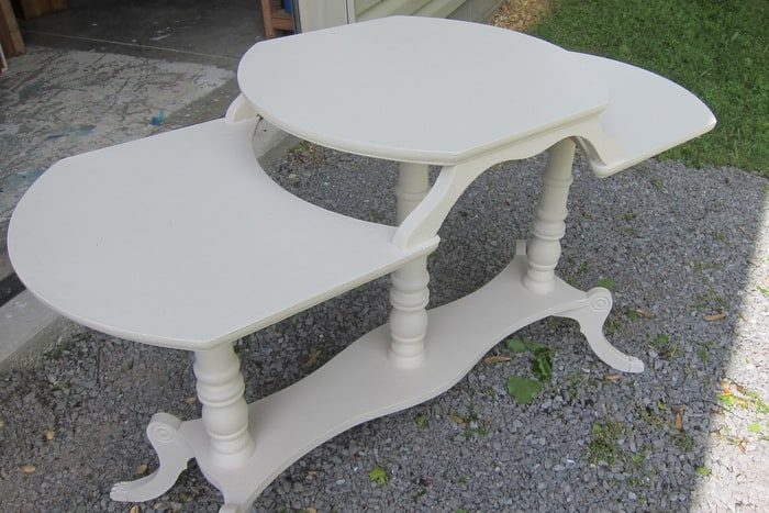 tiered table from the thrift store