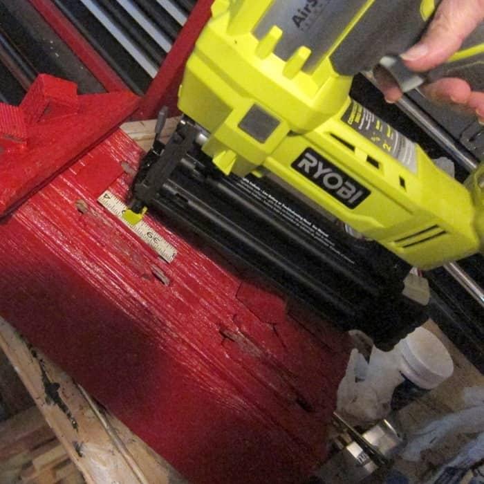 using a Ryobi nail gun to make DIY projects