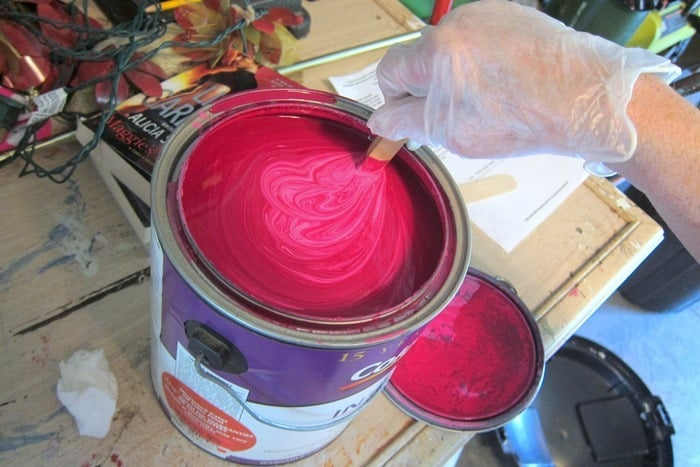 deep pink latex paint