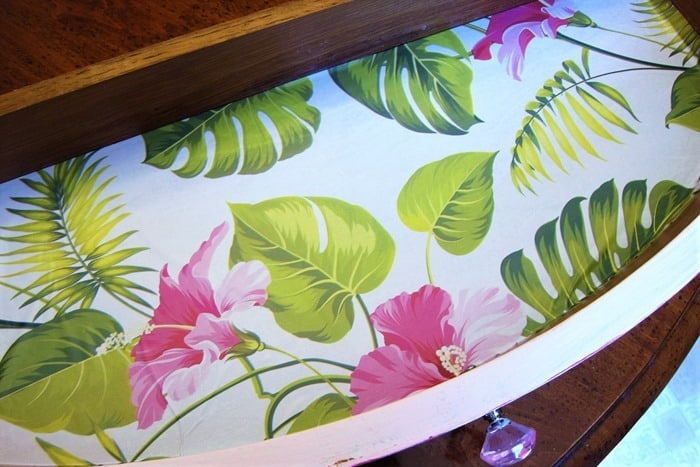 how to line furniture drawers with pretty paper