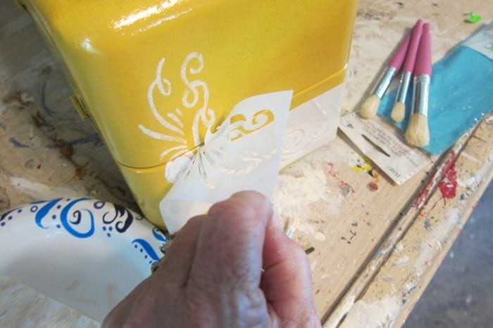 how to stencil with adhesive back stencils