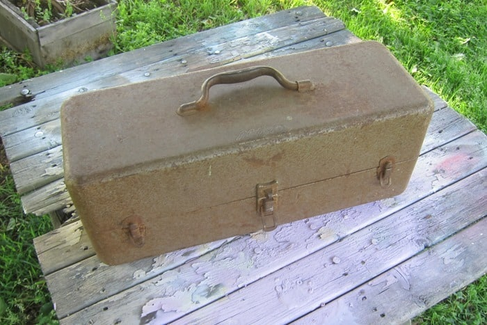 old tool box or tackle box for repurpose project