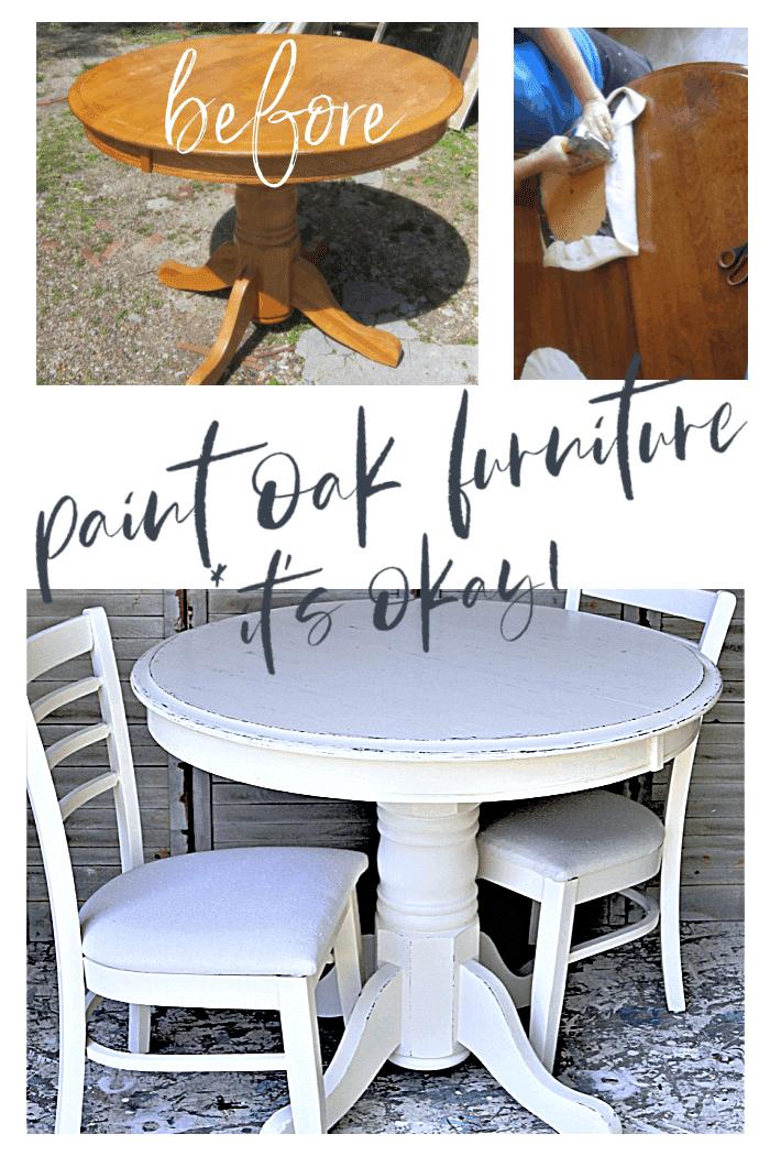 paint oak furniture