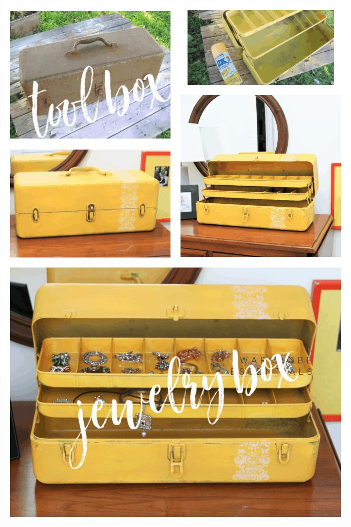 repurposed tool box into jewelry box (2)