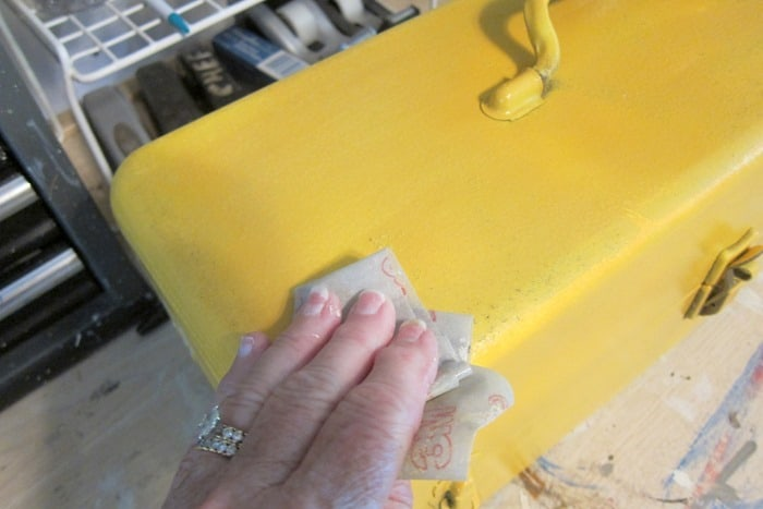 sanding paint by hand