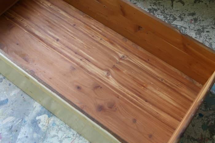 vintage dresser wtih cedar lined drawer