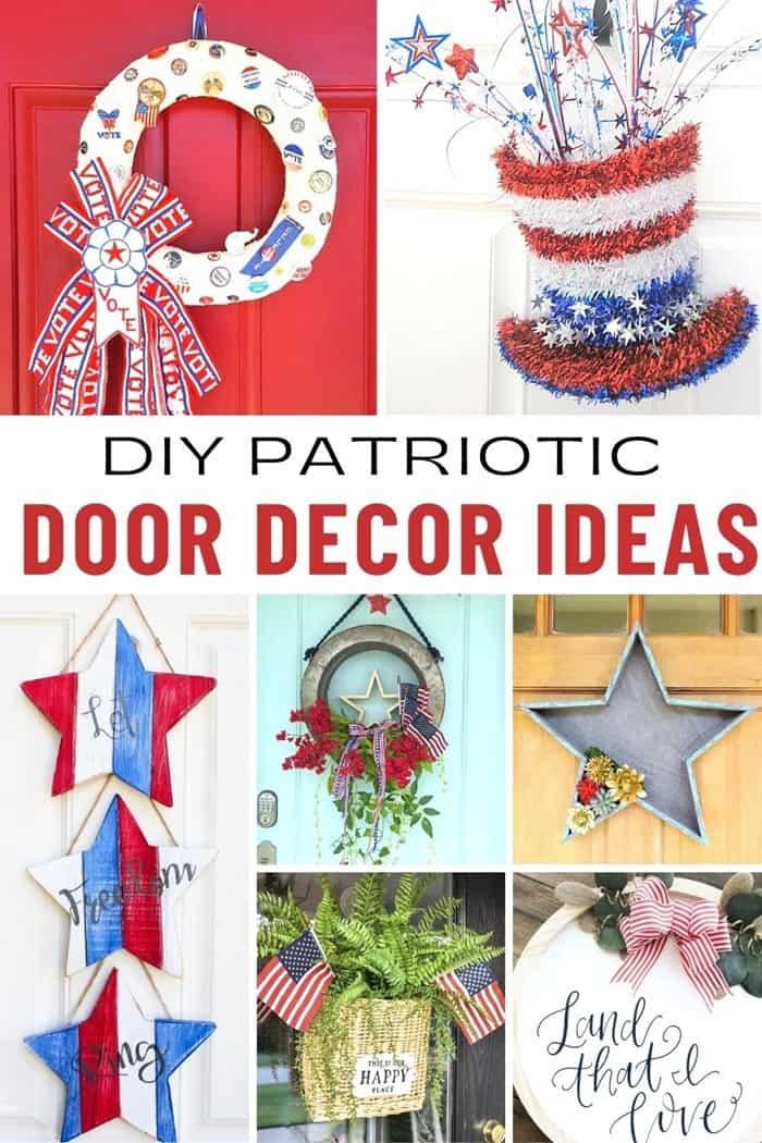DIY Door Decor: Patriotic Theme Red White And Blue Ideas