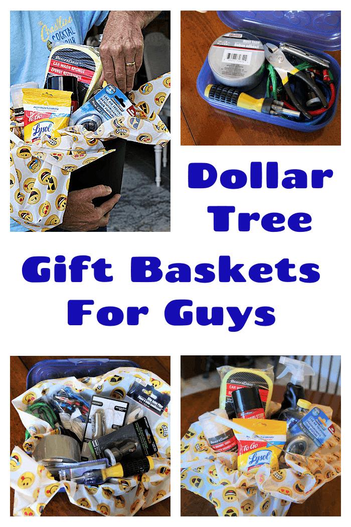 Impressive Dollar Tree Gift Baskets For Guys