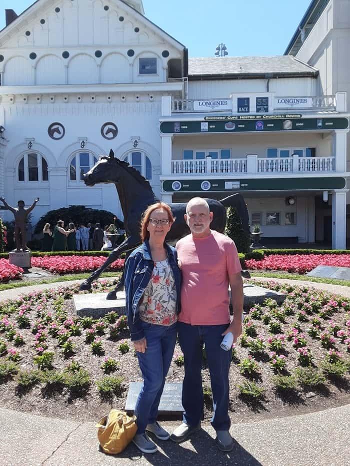 Kathy and Ray at Churchill Downs May 2021