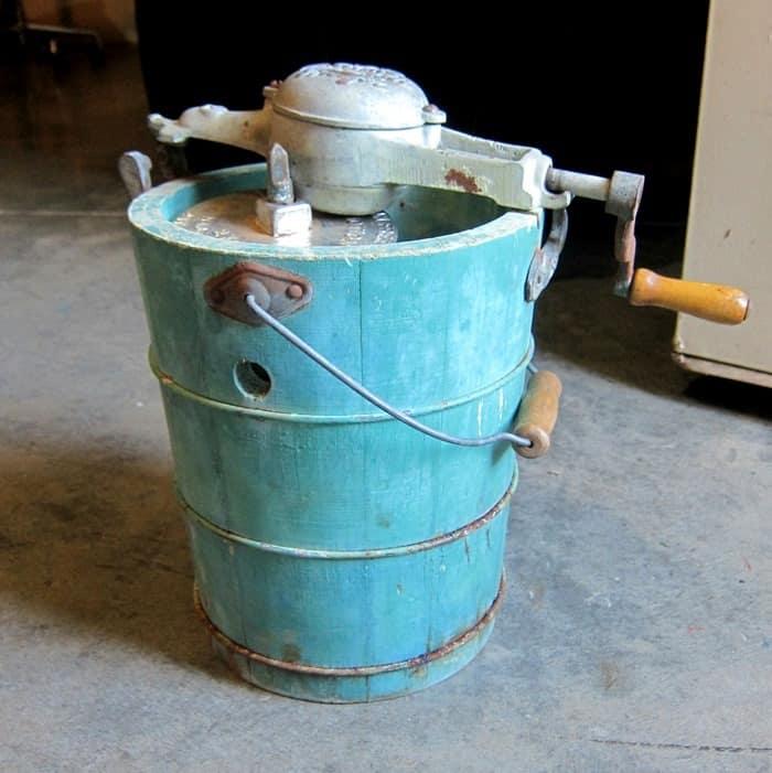 Vintage Hand Crank Ice Cream Freezer And Other Junk Treasures