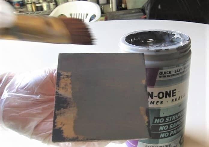 applying paint to layering block (3)