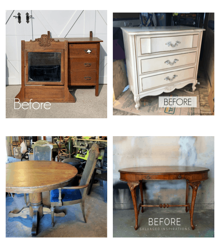 furniture fixer upper paint projects before photos