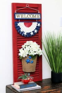 How To Make A Front Porch Welcome Shutter Sign