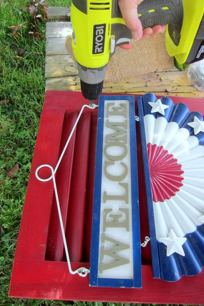 how to make a welcome shutter sign for porch decor or home decor (4)