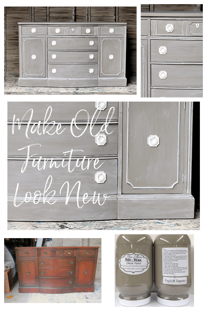 how to make old furniture look new and modern