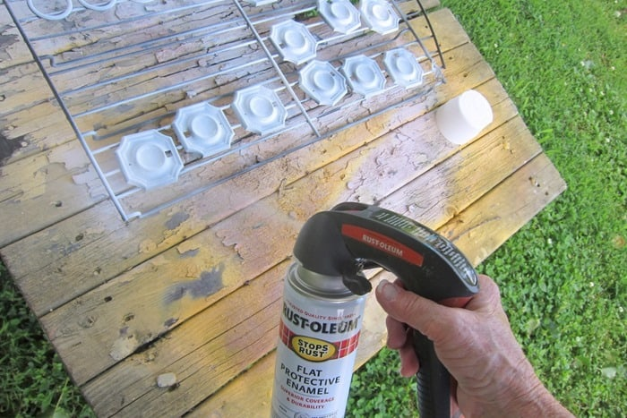 how to spray paint furniture hardware