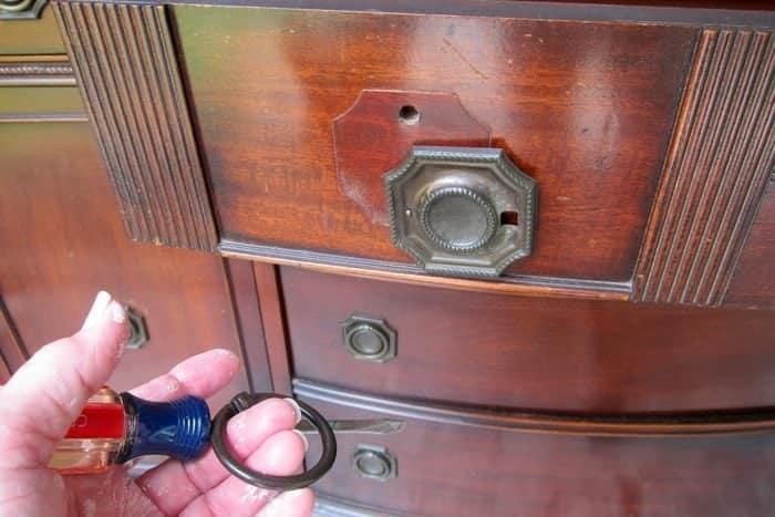 remove furniture hardware and all attachments
