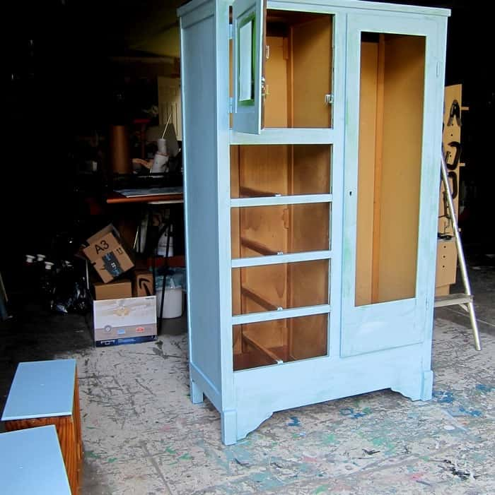 custom blue paint color for furniture