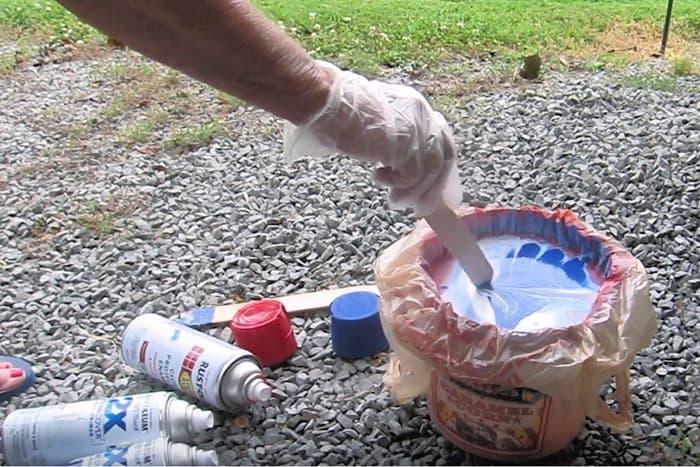 how to hydro dip using Rustoleum spray paint