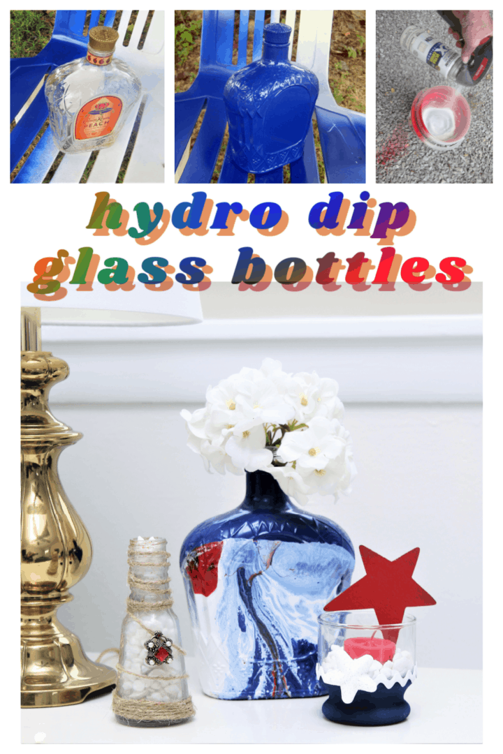 hydro dip spray paint technique using recycled bottles