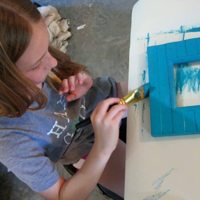 painting picture frames | kids crafts