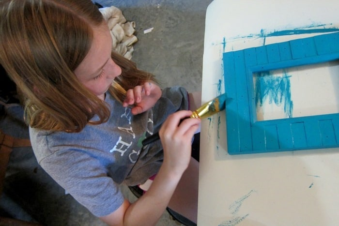 kids craft painting picture frames