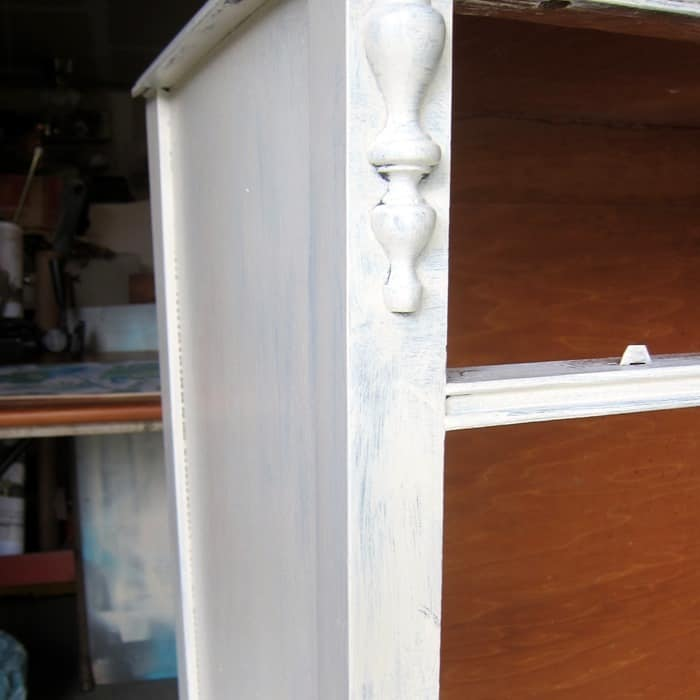 one coat of white paint on furniture