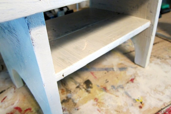 painting a small wood stool