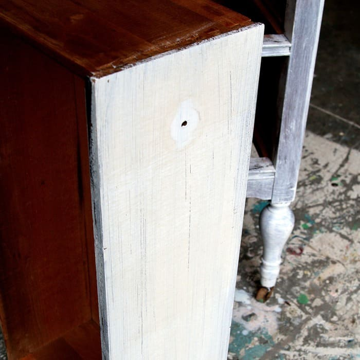stain bleed through on white furniture