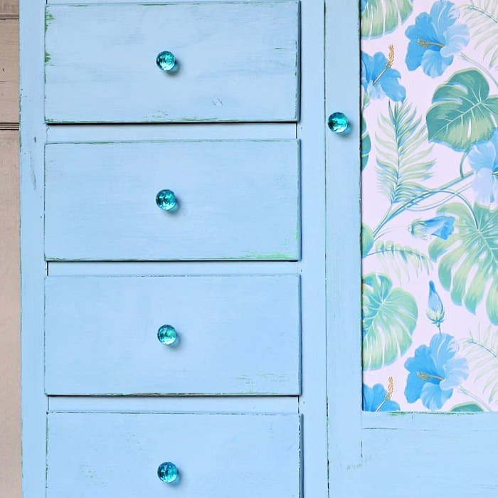 use decorative vinyl adhesive paper for furniture makeovers