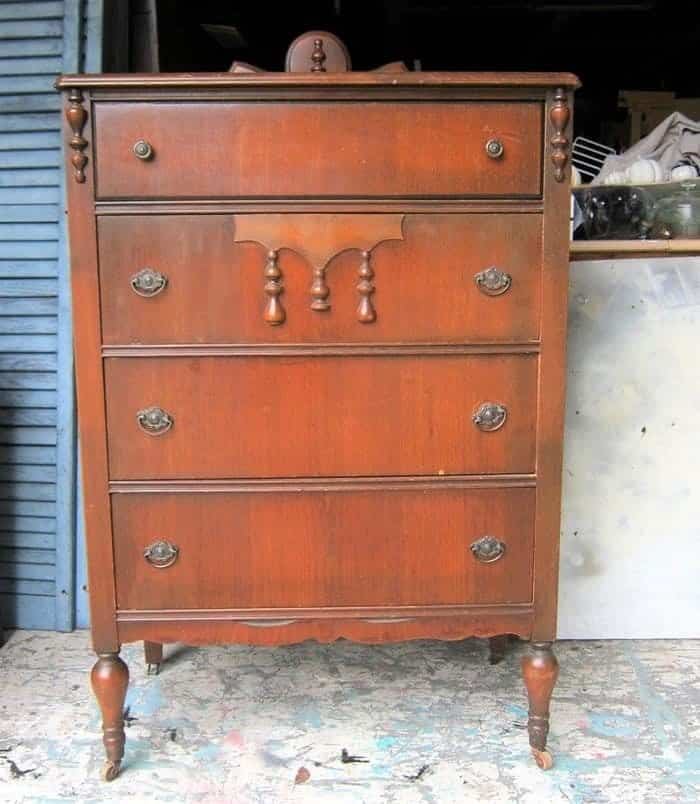 vintage furniture bought at auction for furniture makeover