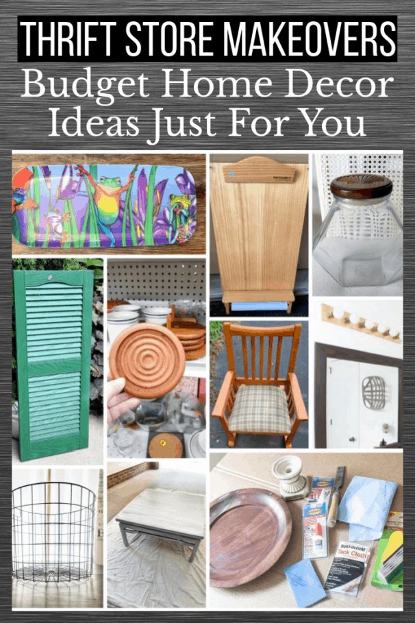 Thrift store home decor makeovers