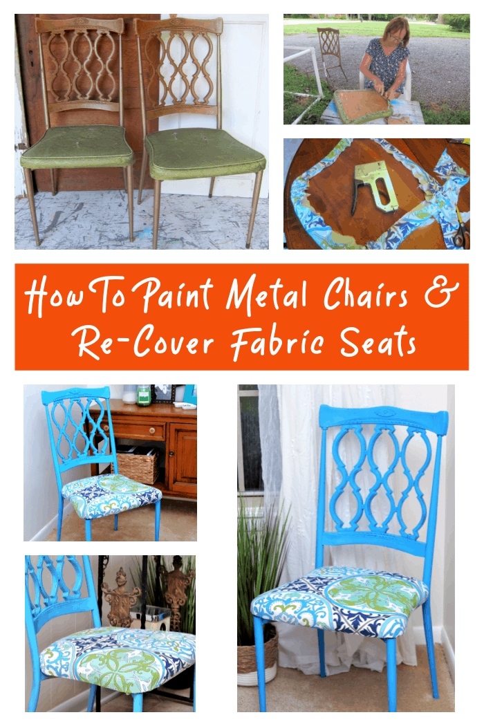 How to paint metal chairs with spray paint
