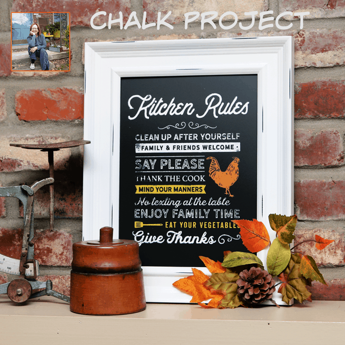 Kitchen Rules Chalk Project