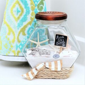 Display Your Beach Vacation Seashells and Sand in a Memory Jar