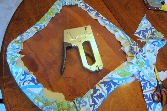 recover an old dining room chair seat