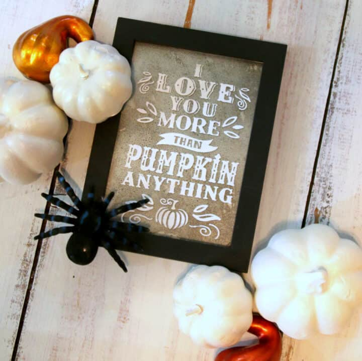 Chalk Couture I Love You More Than Pumpkin Anything Transfer Project