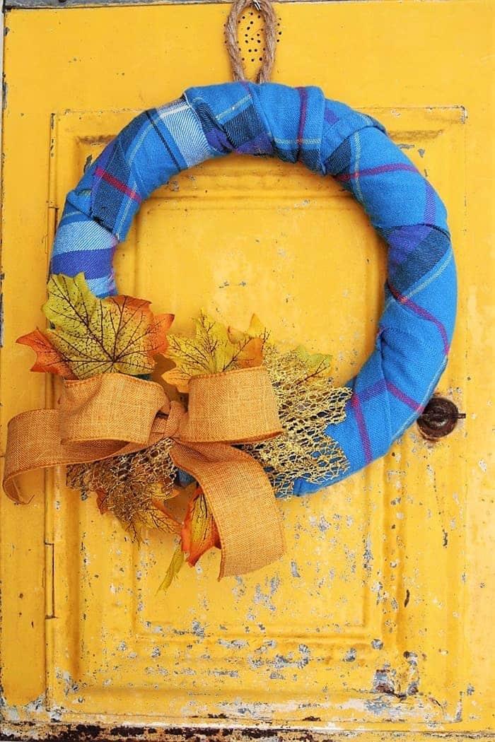 Fall Flannel Wreath