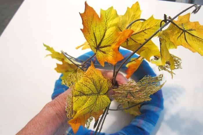 Fall leaf garland from Dollar Tree