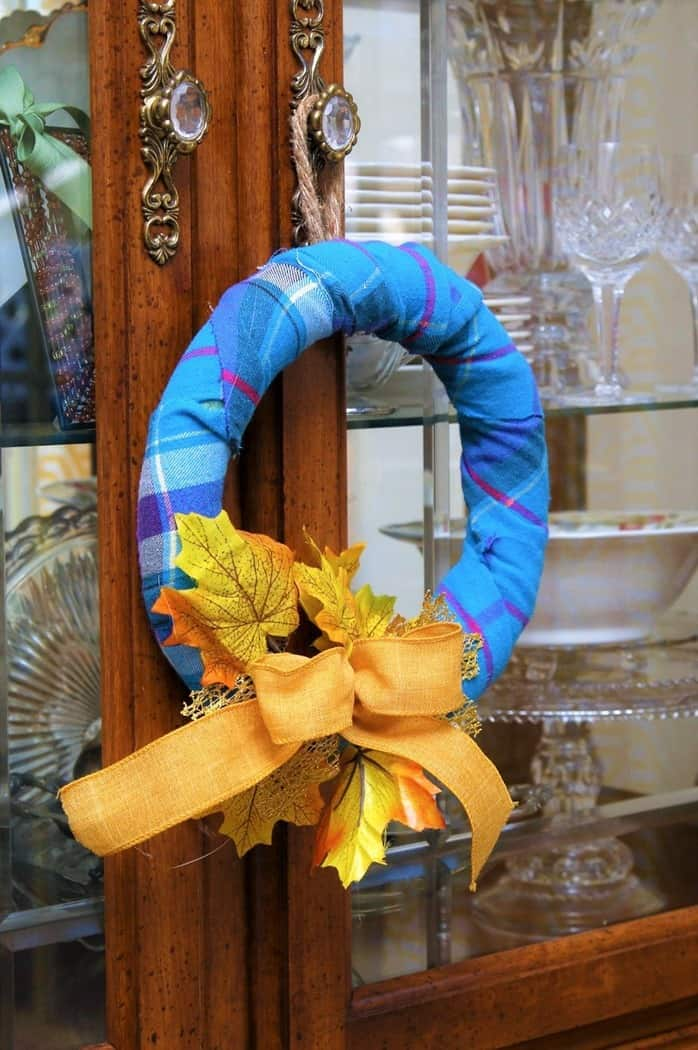 How to Make A Flannel Wrapped Fall wreath