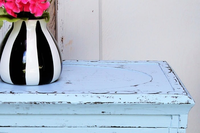 How to distress painted furniture without the mess