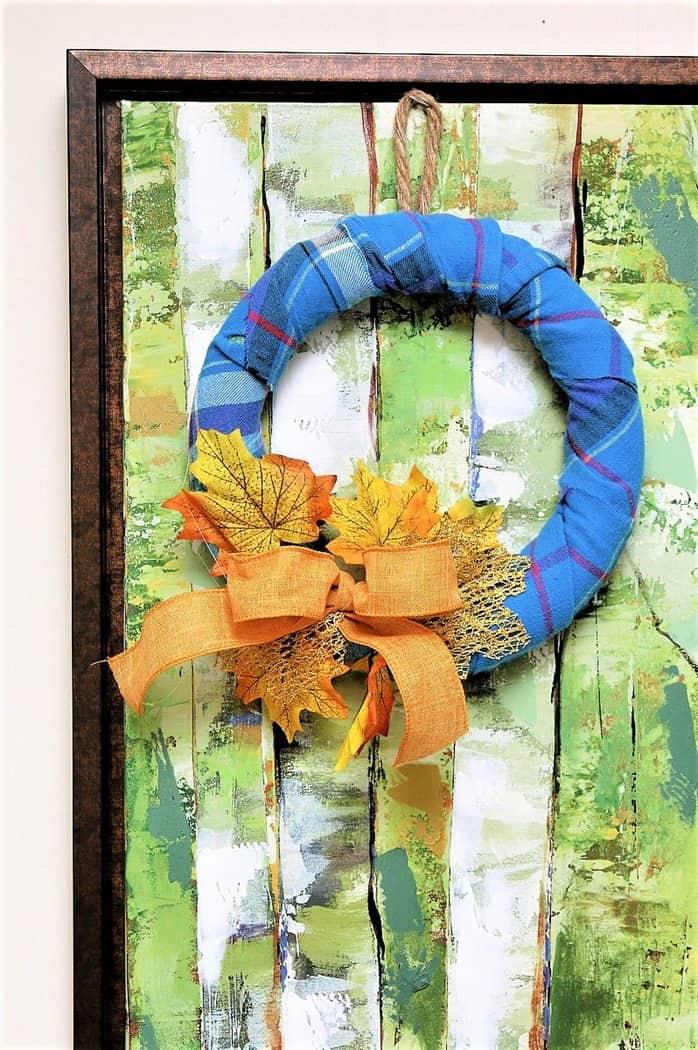 How to make a Fall wreath using a styrofoam wreath form (1)